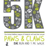PAWS AND CLAWS 5K LOGO